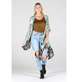 Angie Angie - Samira floral coverup (mint)