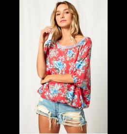 Ces Femme Bette - Floral print jersey knit top