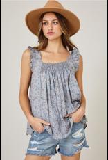 Ces Femme Luna - Floral print smocked top