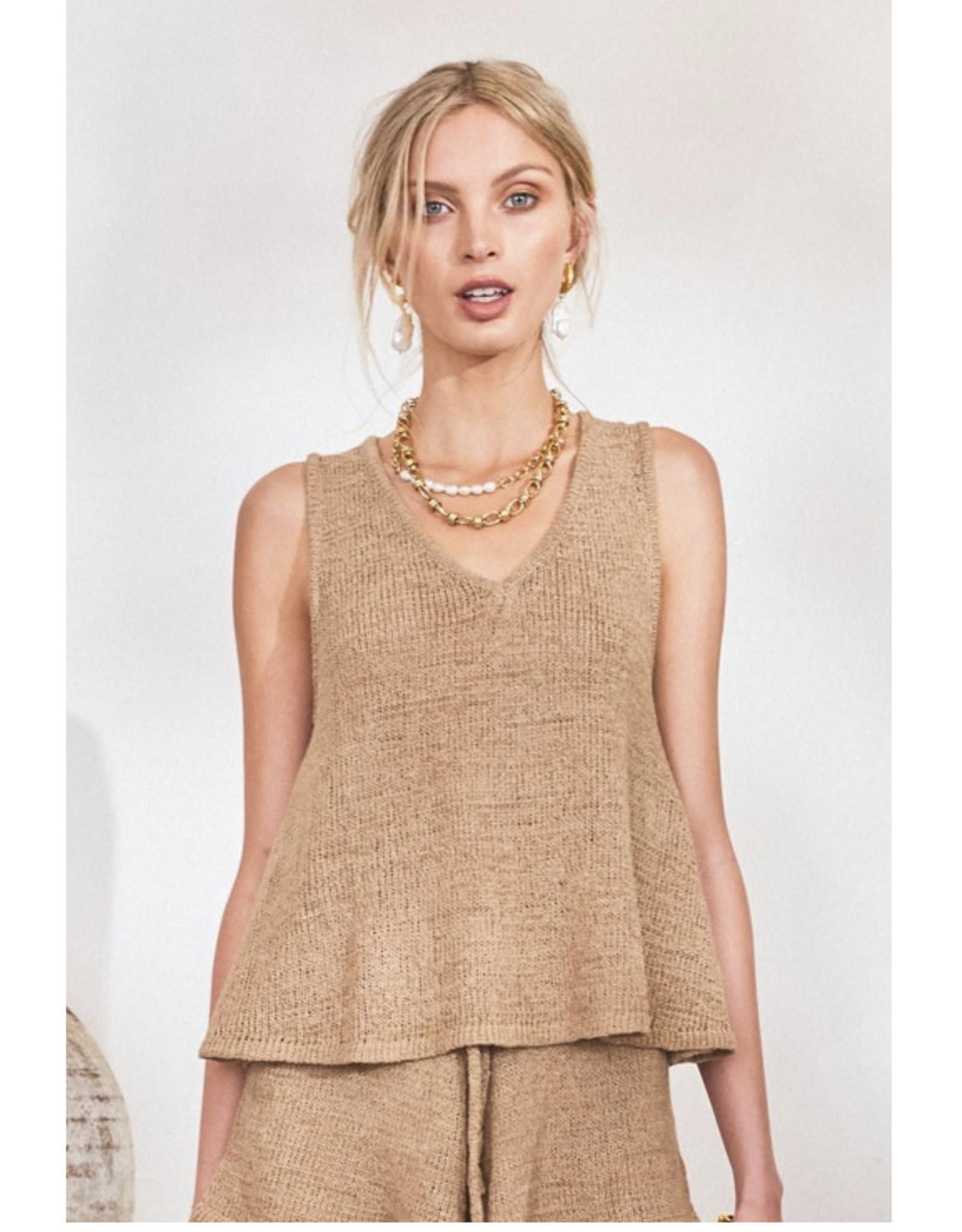 Lost in Lunar Lost in Lunar - Amy knit top (nude)