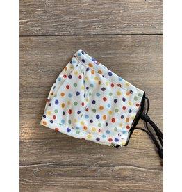 Papillon Papillon - KIDS size - Cotton mask (rainbow polka dot)