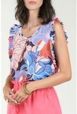 Molly Bracken Molly Bracken - Vintage floral print top (seventies mauve)