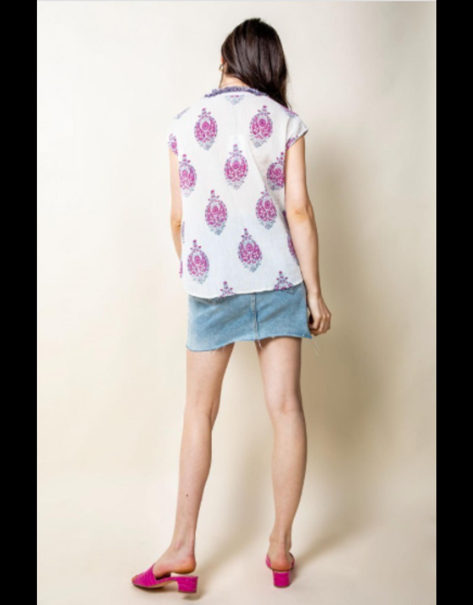 Zelda - Embroidered sheer top