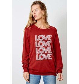 good hYOUman good hYOUman -  Love fleece pullover (fired brick)