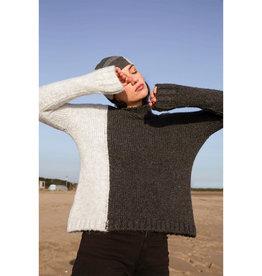 Mus & BomBon Mus & BomBon - Aventu sweater (anthracite/cloud)