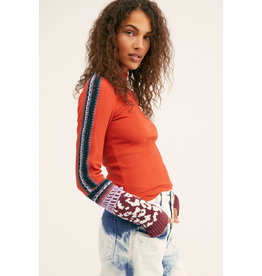 Free people Free People - Switch It Up thermal (washed red)