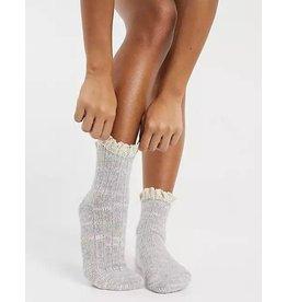 Free people Free People - Firecracker Flecked Ruffle Socks (grey)