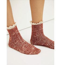 Free people Free People - Firecracker Flecked Ruffle Socks (merlot)