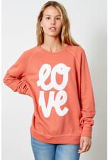 good hYOUman good hYOUman - Smith crewneck pullover - Love (crabapple)