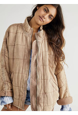 Free people Free People - Dolman Quilted Knit Jacket (champagne diamonds)