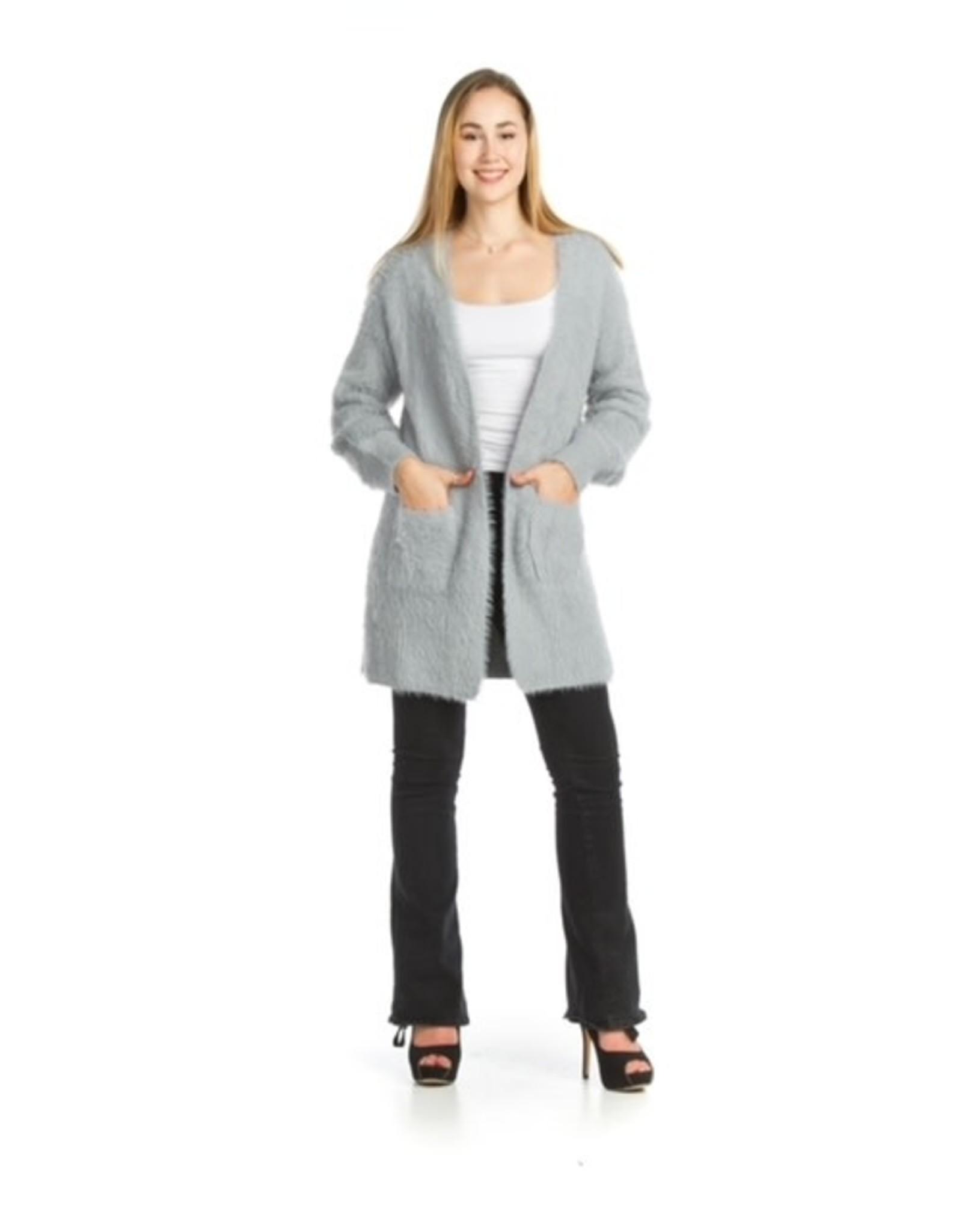 Papillon Papillon - Fuzzy cardigan with pockets (grey)