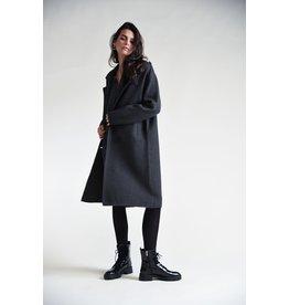 Molly Bracken Molly Bracken -Knit trench coat (dark grey)