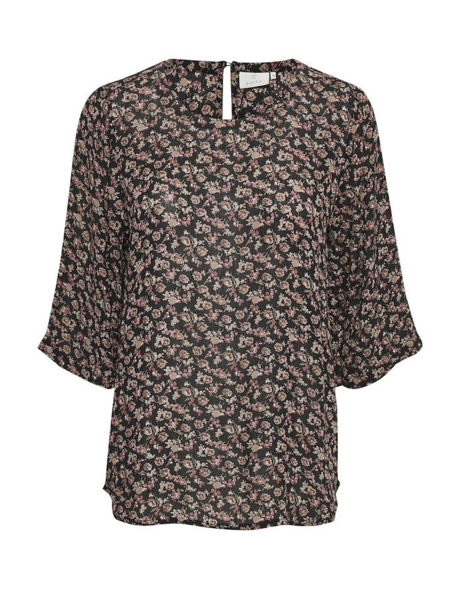 Kaffe Kaffe - Sally amber blouse (blk/brn/red)