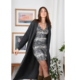 Molly Bracken Molly Bracken - Maxi length open cardigan (grey)