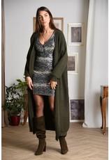 Molly Bracken Molly Bracken - Maxi length open cardigan (khaki)