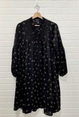 Papillon Papillon - Crepe smock dress with lace detail