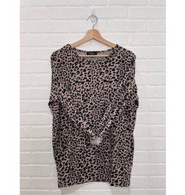 Papillon Papillon - Animal print oversized sweatshirt (blush)