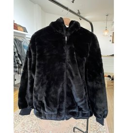 RD Style RD Style - Cara faux fur bomber hooded jacket (black)