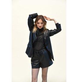 Molly Bracken Molly Bracken - Faux leather blazer (black)