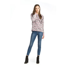 Papillon Papillon - Leopard eyelash sweater (rose)
