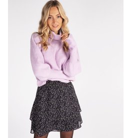 EsQualo EsQualo - sweater with high cuffs (electric lilac)