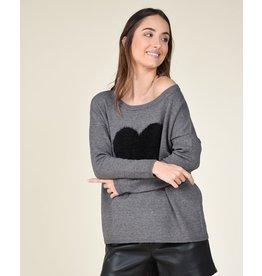 Molly Bracken Molly Bracken - Knit sweater (ash grey)