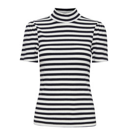 ICHI ICHI - Lilyana striped top (black)