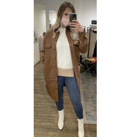 RD Style RD Style - Moira vegan leather top (cognac)