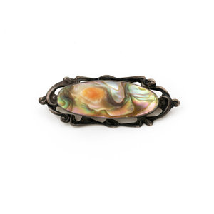 Sterling Silver and Abalone Pin