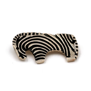 Mexican Silver Zebra Brooch
