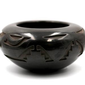 Santa Clara Pueblo Carved Blackware Pot