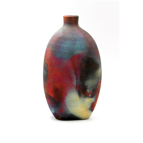 Treasures of Ojai Beautiful Handmade Ceramic Raku Bottle Vase
