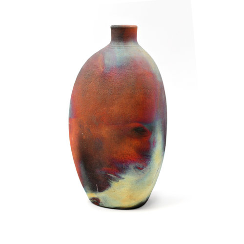 Beautiful Handmade Ceramic Raku Bottle Vase