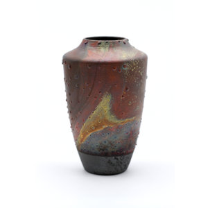 Treasures of Ojai Handmade Raku Fired Ceramic Vase