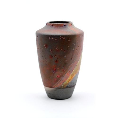 Treasures of Ojai Elegant Handmade Raku Fired Ceramic Vase