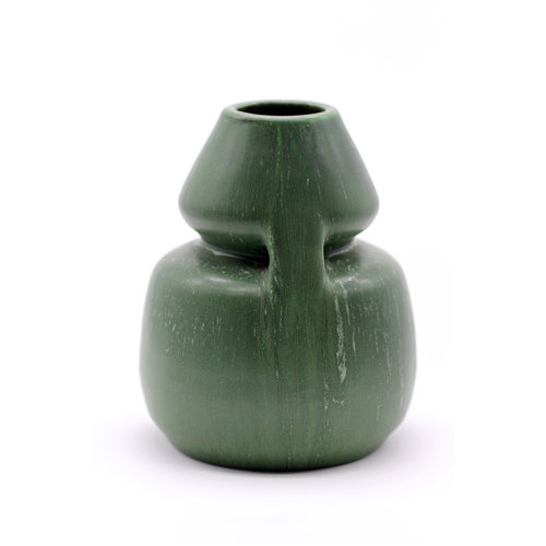 * Ephram Faience Green Vase