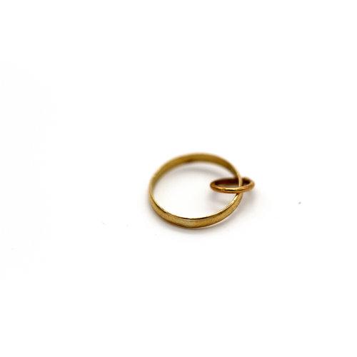 * 18K Baby Ring Charm