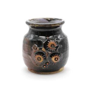Treasures of Ojai Brown Studio  Pot w/ Floral Design
