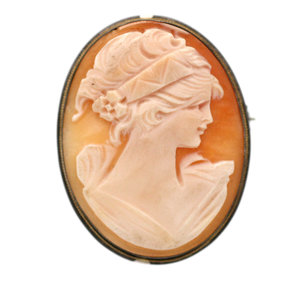 Beautiful Vintage Cameo in 800 Silver Setting