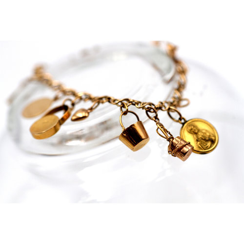 Treasures of Ojai 18K Gold Charm Bracelet