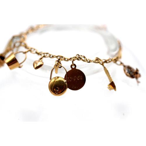 Treasures of Ojai 18K Gold Charm Bracelet