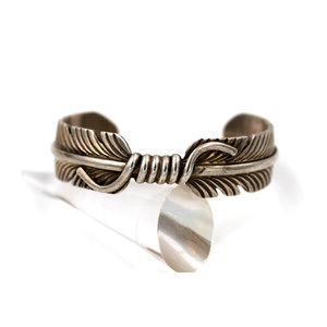 Treasures of Ojai Sterling Feather Cuff