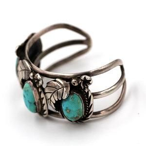 Treasures of Ojai 3 Stone Turquoise Cuff