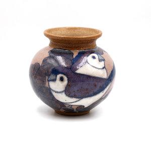 Treasures of Ojai Ceramic Bird Vase