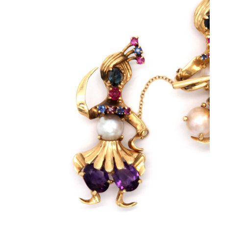 * 14k Blackamoor Brooch