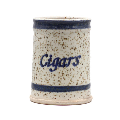 "Ceramic Speckled ""Cigars"" Canister"