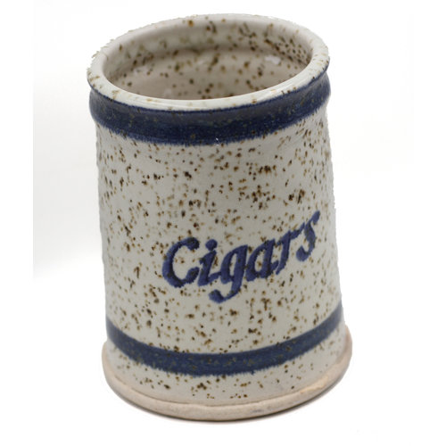 "* Whimsical Ceramic Speckled ""Cigars"" Canister"
