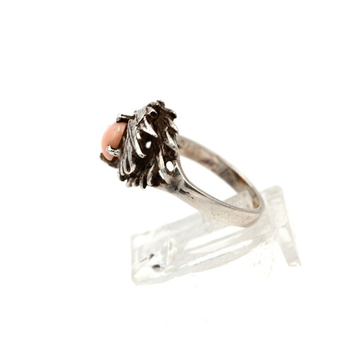 * Sterling & Angel Coral Ring