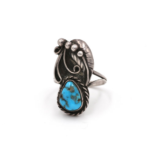 Sterling & Turquoise Ring S6.5