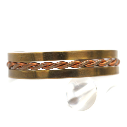 Treasures of Ojai Men's Copper and Brass Cuff